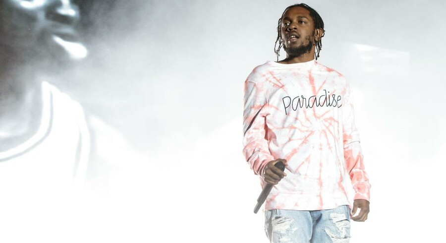 Kendrick Lamar på scenen under Austin City Limits Music Festival i 2016.