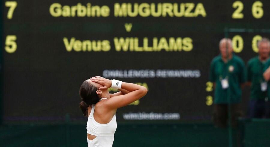 Garbine Muguruza eftar at have vundet Wimbledon.