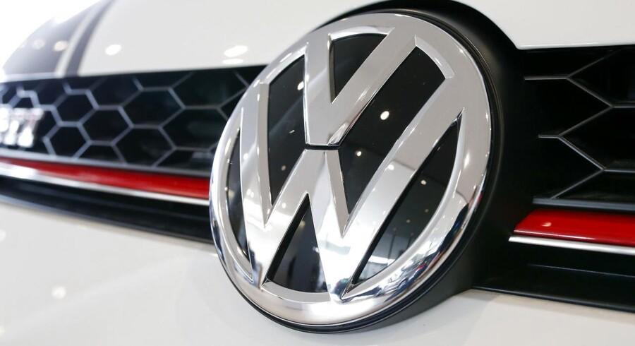 Volkswagens diesel-skandale kostede igen i januar et fald i markedsandelen i Europa. Arkivfoto.