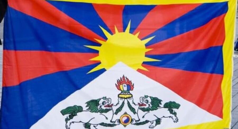 Dette flag skulle gæstende kinesere forhindres i at se under besøg i København, besluttede politiet. Nu undersøges affæren både af Den Uafhængige Politiklagemyndighed og af Tibet-kommissionen (arkivfoto). Free/Www.colourbox.com