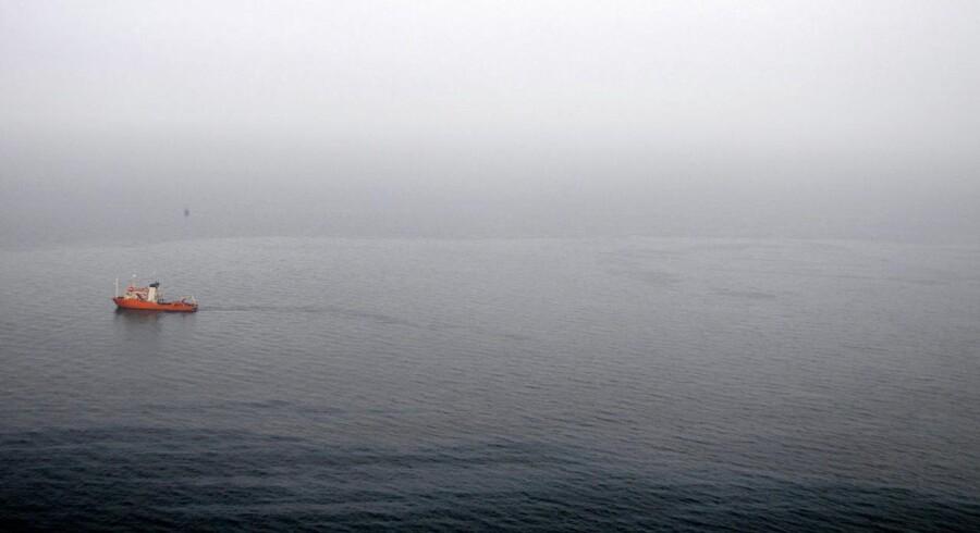 Arkivfoto af olieudslip ved Københavns havn.