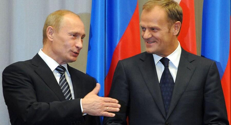 Vladimir Putin og Donald Tusk.