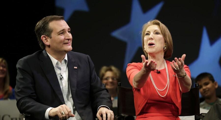 Ted Cruz vil annoncere Carly Fiorina som sin vicepræsidentkandidat.