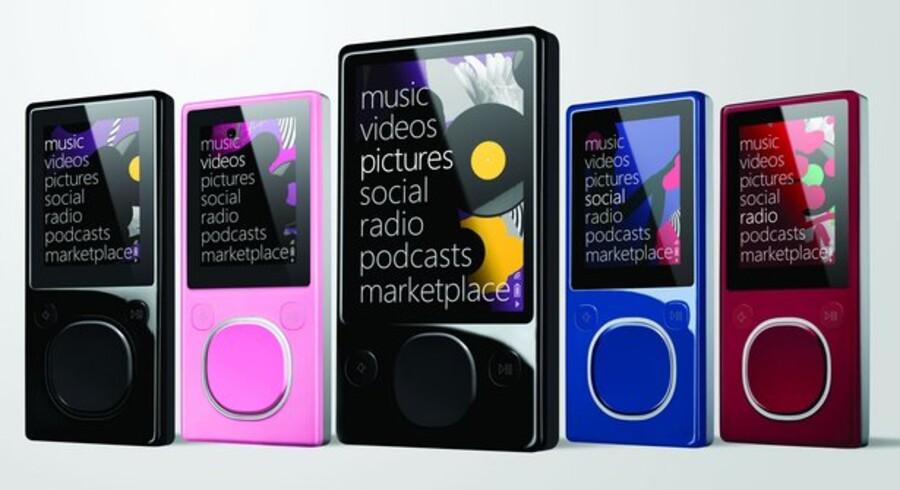 Microsofts Zune-afspiller gik ned for tusinder lige før nytår. Foto: Microsoft
