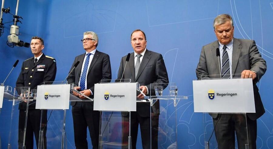 Micael Bydén, Anders Thornberg, Stefan Lofven og Jonas Bjelfvenstam.