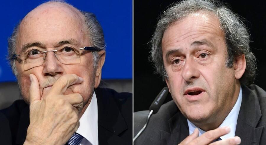 Sepp Blatter og Michel Platini er udelukket fra fodbold i otte år.