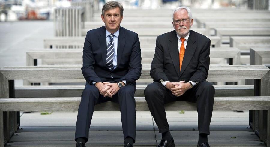 DLH Direktør Kent Arentoft (tv.) og bestyrelsesformand Kurt Anker Nielsen (th.)