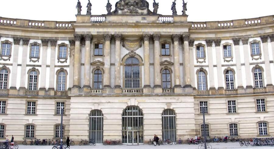 De studerende blogger kritisk på Humboldt Universität i Tyskland. Arkivfoto: Torben Christensen