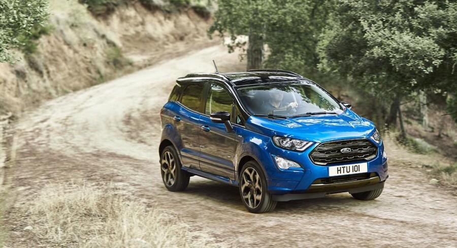 Ford tager nu omsider den lille SUV EcoSport til Danmark. Det sker med en stærkt opgraderet udgave, som vil kunne fås fra 207.580 kr.