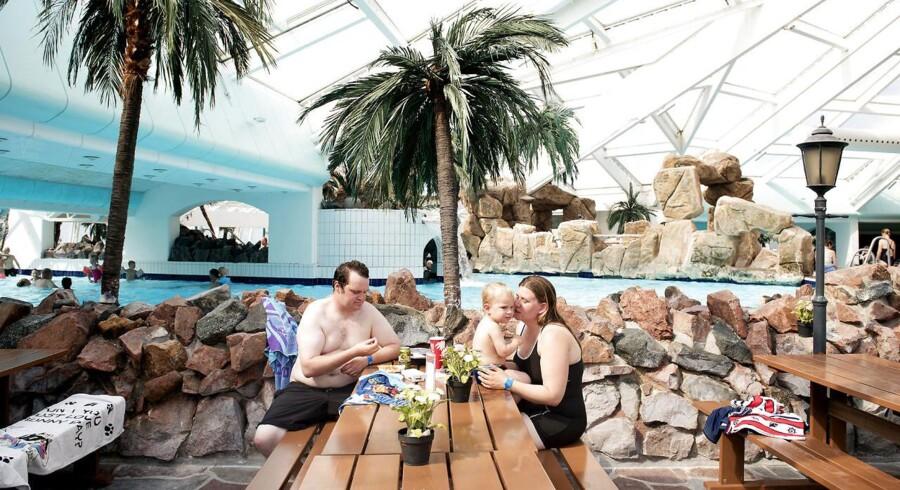 Danskerne søger i stigende grad mod feriecentret Lalandia på Lolland og i Billund, men vandlandet udfordres af flere konkurrrenter på markedet. Arkivfoto: Linda Kastrup