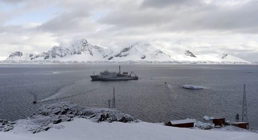 ARKIVFOTO. Et bemærkelsesværdigt projekt har til formål at flyve is til Antarktis