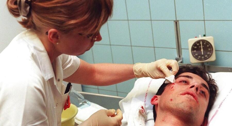 Historisk få ender på skadestuen på grund af voldssager, viser ny undersøgelse.