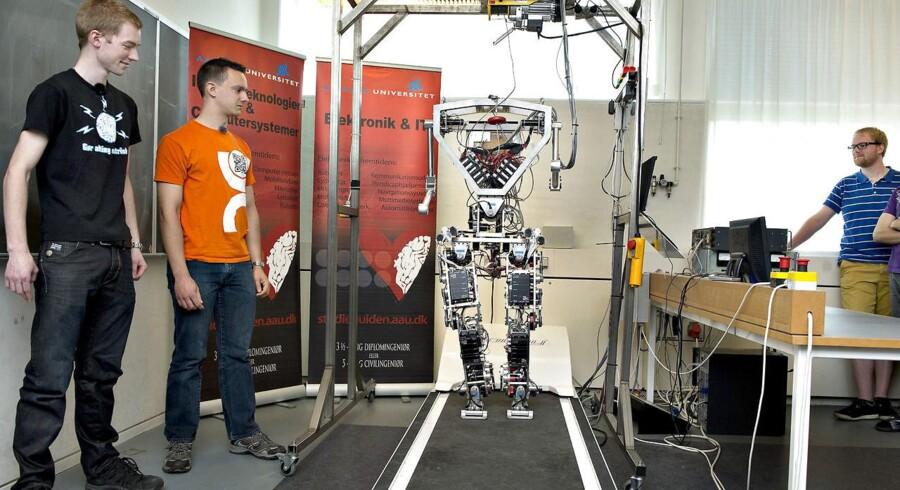 Arkivfoto: AAU-BOT1 i robotlaboratoriet på Aalborg Universitet.