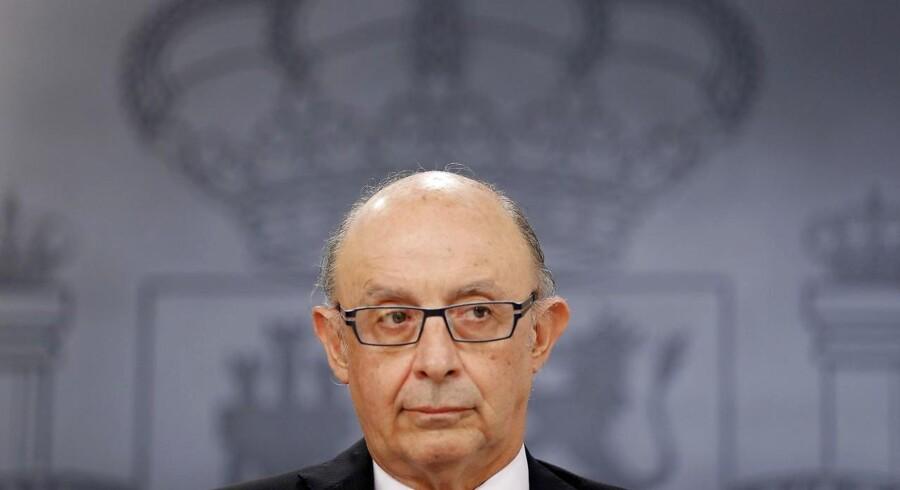Budgetminister Cristobal Montoro.