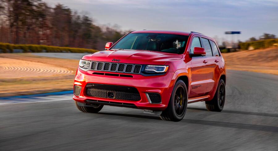 En Jeep hører ikke umiddelbart hjemme på en racerbane, men Trackhawk er trods sine offroadaner en reel bane-høg.
