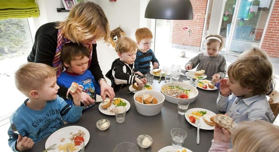 Madordning i børnehaverne i Faverskov. Her er det Hadstens nye børnehave.