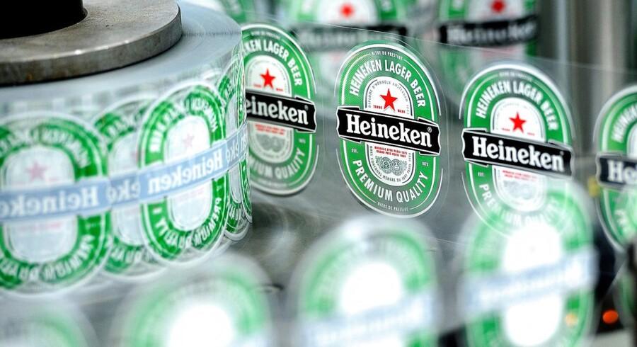 Heineken, der producer øl ligesom sin danske konkurrent Carlsberg, har i årets første tre måneder haft en mindre organisk salgsvækst end ventet i markedet. (Foto: PHILIPPE HUGUEN/Scanpix 2017)