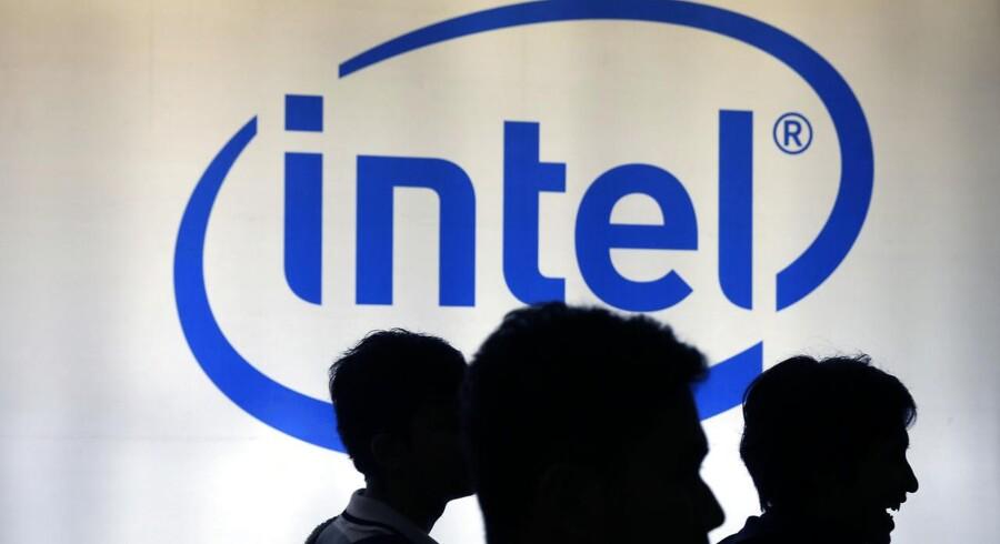Arkivfoto: Intel logo.