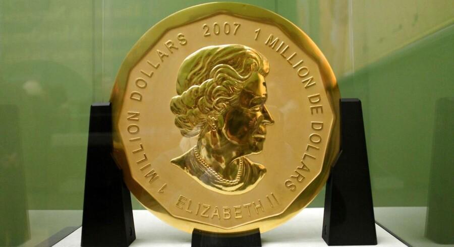 """Arkivfoto: Mønten """"Big Maple Leaf"""" blev sidste år stjålet fra Bode Museum i Berlin."""