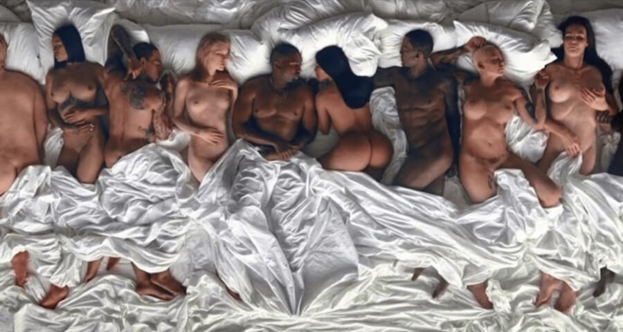 Still fra Kanye Wests kontroversielle »Famous«-musikvideo.