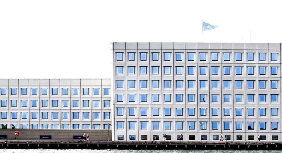 A P Møller Mærsk hovedkvarter på Esplanaden kaldet Huset med de blå øjne.