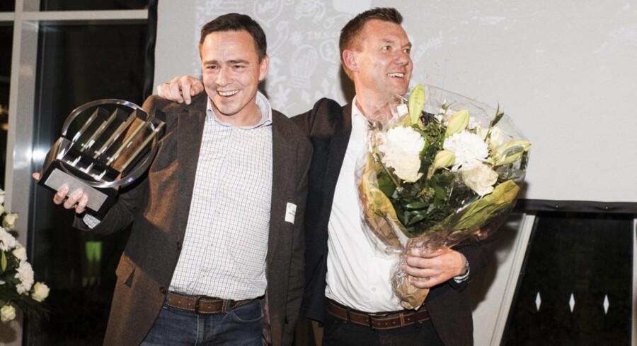Vinder af EY Entrepreneur Of The Year 2016 i region Midtjylland – Dansk IngeniørService: Ejerne Michael Gadeberg (tv) og Søren Bunk.