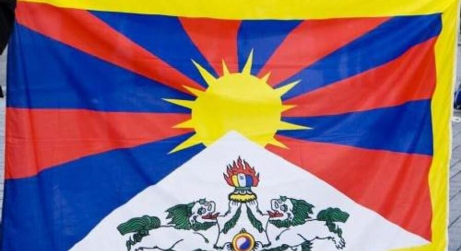 Dette flag kunne krænke den kinesiske præsident. Det skal en central medarbejder i PET havde sagt i en telefonsamtale med en politikommissær i Københavns Politi. Men PET-manden kan ikke huske samtalen, siger han torsdag i Tibet-kommissionen (arkivfoto). Free/Www.colourbox.com