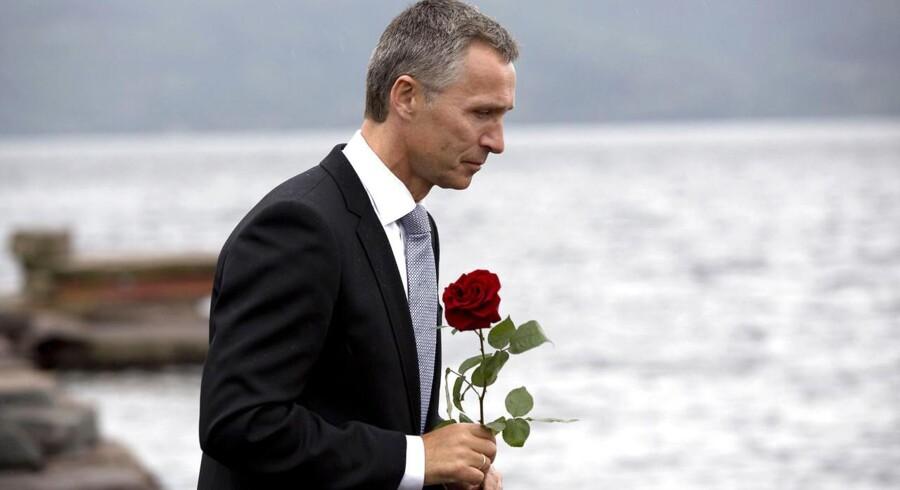 Arkivfoto. Jens Stoltenberg mindes offrene for terrorangrebet i Norge i 2011.