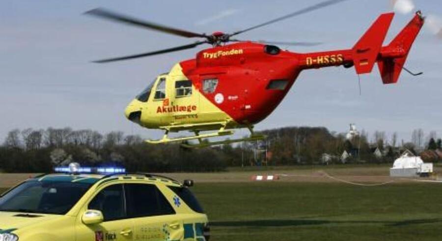 En dreng blev fløjet til Rigshospitalets brandsårsafdeling efter en ulykke på en skole i Sønderborg mandag. Drengen er ikke i livsfare, har skolen fået oplyst af en læge og paramediciner. Han får formentlig ikke varige mén. Regionerne/arkiv/Free