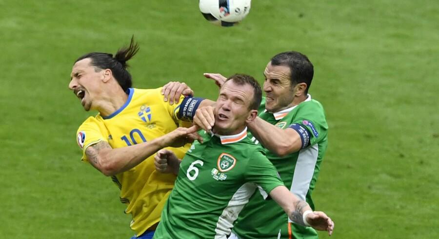 Zlatan Ibrahimovic deltager i disse dage ved EM. Måske skal han til endnu en slutrunde for Sverige i august. Scanpix/Philippe Lopez