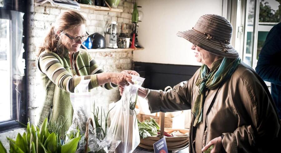 Madsamling på Frederiksberg, hvor lokale producenter en gang om ugen kommer til byen og sælger deres varer til byboerne. Alt er bestilt og betalt på forhånd.