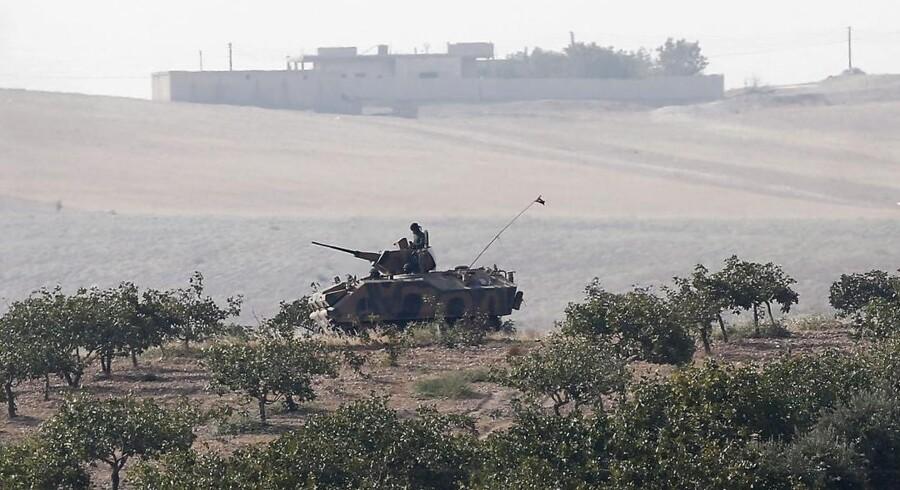 De tyrkiske styrker krydsede grænsen tidligere i dag.