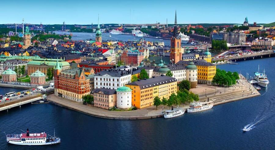 Den svenske hovedstad Stockholm skal allerede i 2018 danne rammen om verdenspremieren på 5G-mobilnettet - også selv om det faktisk ikke er færdigt på det tidspunkt. Arkivfoto: Iris/Scanpix