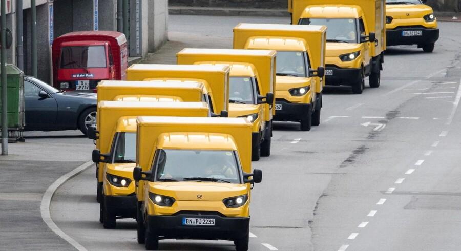 Arkivfoto: Deutsche Post biler.