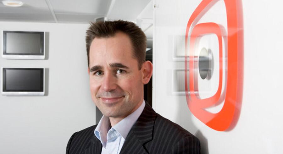 Canal Digitals administrerende direktør, Jens B. Arnesen, skal nu også sælge telefoner og Internet-forbindelser. Foto: Canal Digital