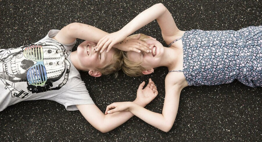 8-årige tvillinger Chiara og David fra Sydslesvig.