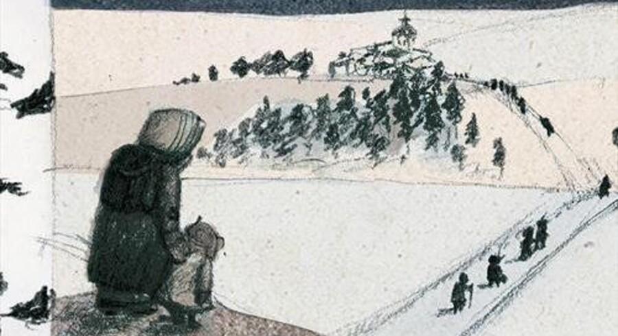 Aki Ollikainen er aktuel med romanen »Hungersnød«, der er læseværdig grundet dens insisteren på det konkrete; på at beskrive vejen, sneen og kroppene, når selv lidt vælling er for meget for de indskrumpede mavesække.