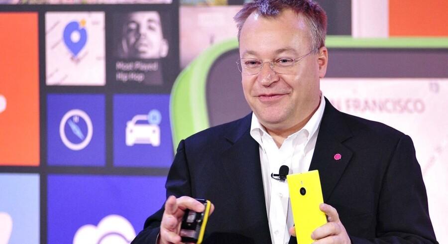 Stephen Elop, som var kandidat til at overtage ledelsen af hele Microsoft, er nu fortid i softwaregiganten og skal ikke længere præsentere nye Windows-telefoner. Arkivfoto: Josh Edelson, AFP/Scanpix