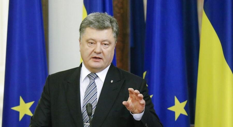 Ukraine oplever endelig medvind, og det glæder præsident Petro Porosjenko,