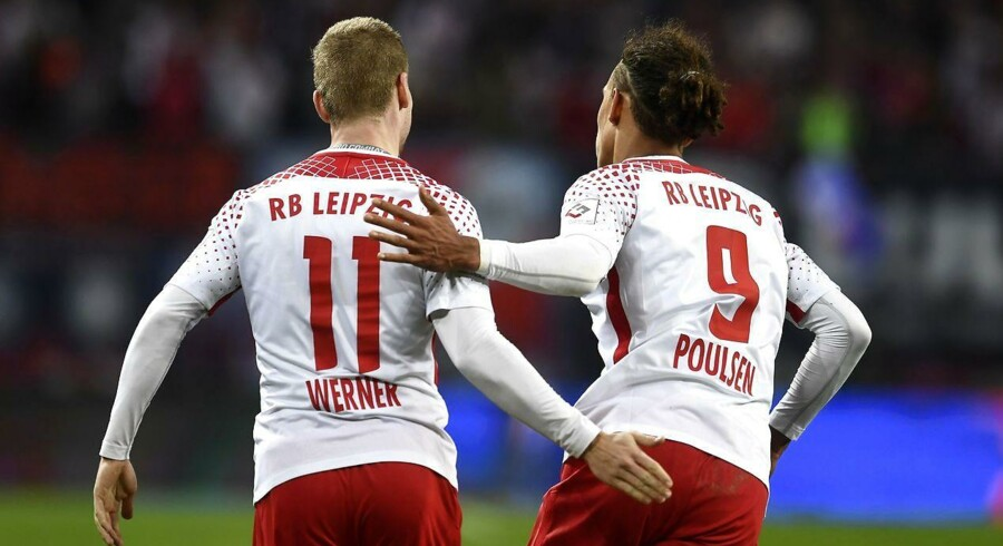 Yussuf Poulsen startede Leipzig-comeback, mens Jannik Vestergaard sørgede for uafgjort til Mönchengladbach.