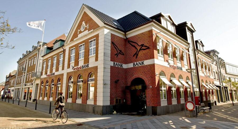 Arkivfoto. Vestjysk Bank foretager førtidig indfrielse af statslig hybrid lånekapital. Det oplyser banken.
