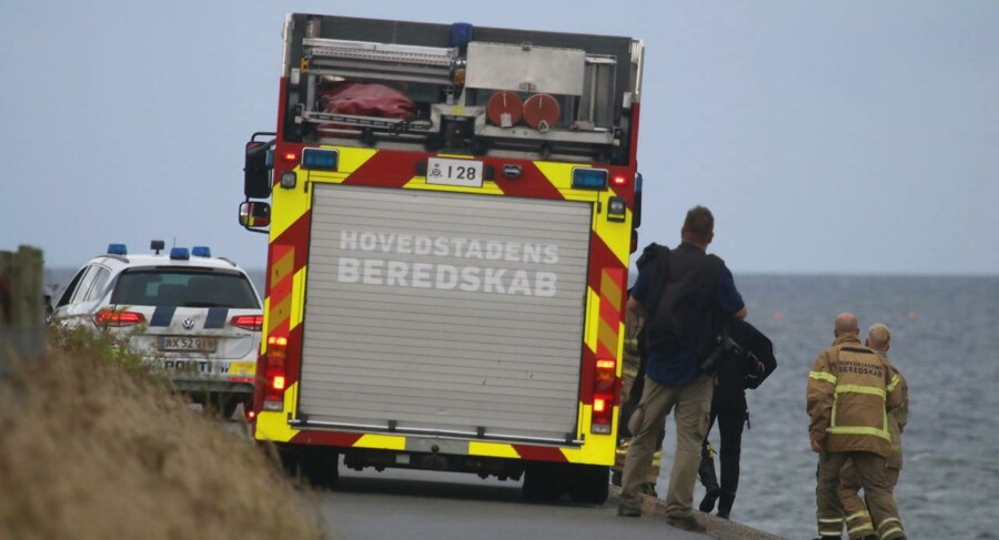 Politi undersøger anmeldelse om kvindelig ved Amager. Foto: Mathias Øgendal