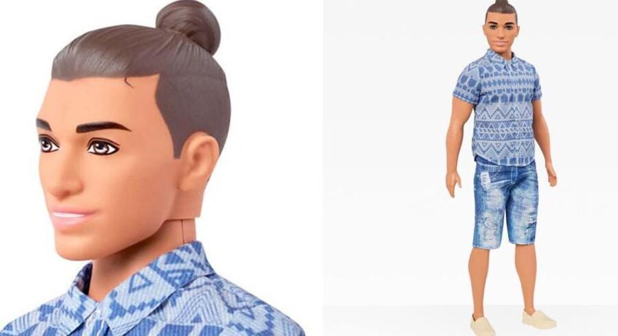 Legetøjsfirmaet Mattel har overgivet sig: Ken vil fremover kunne fås med en særlig »man-bun frisure«.