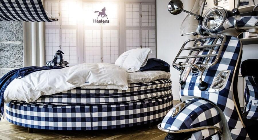 Hästens butik med senge i København K.
