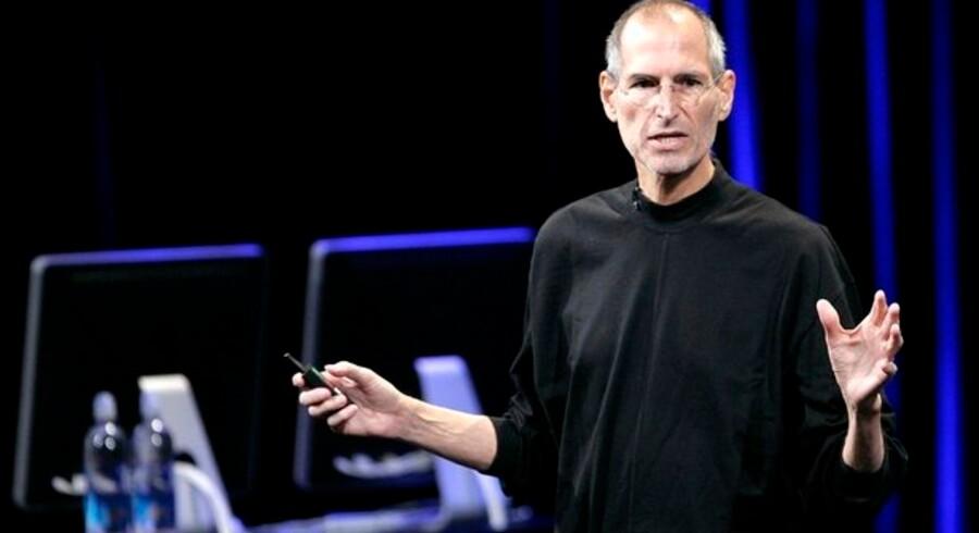 Steve Jobs' tilbagekomst i toppen af Apple-koncernen smittede af på børsen. Foto: Robert Galbraith, Reuters/Scanpix