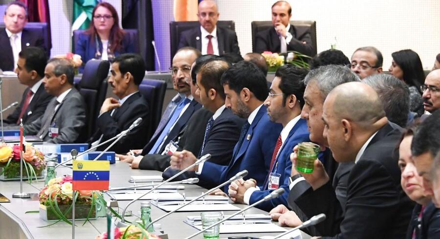 Oliekartellet Opec nåede på dagens møde i østrigske Wien ingen aftale om et nyt produktionsmål.