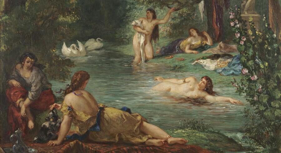 Delacroix »Badende« er blandt billederne på National Gallerys meget seværdige udstilling om den franske maler - og de mange han inspirerede.