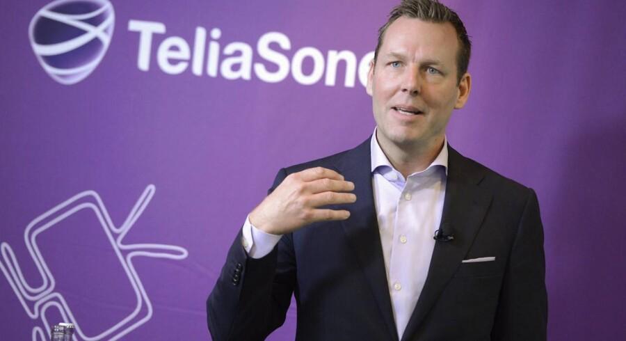 Telias topchef, Johan Dennelind, medgiver, at 2015 ikke begyndte så godt men forventer at indhente alt inden nytår. Arkivfoto: Bertil Enevag Ericson, TT/Scanpix