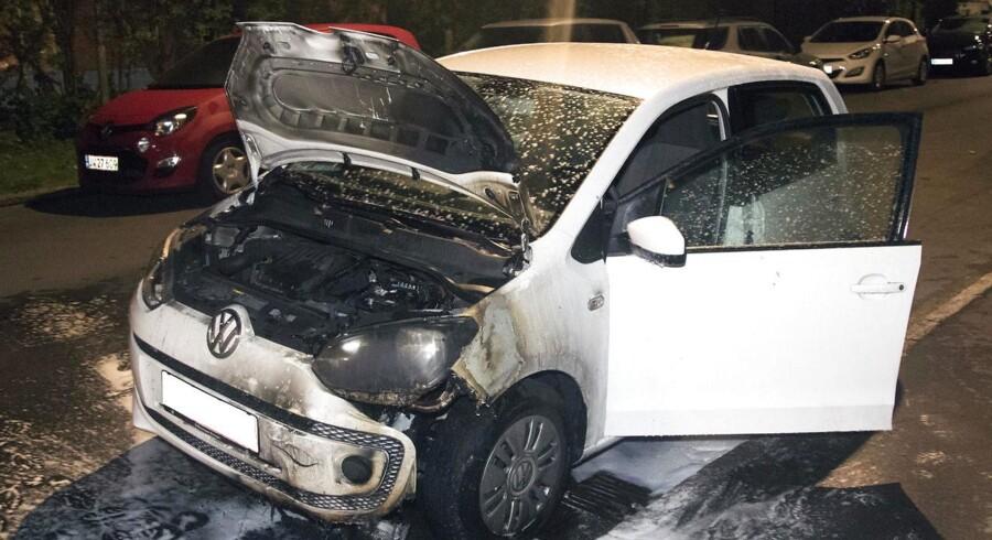 ARKIV: Udbrændt bil på Kretavej i København natten til søndag, d. 21. august 2016.