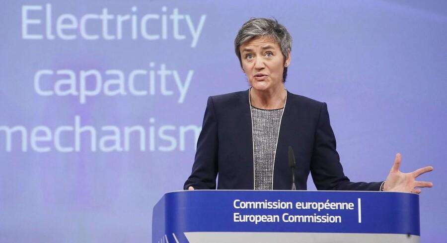 Vestager har studeret såkaldte kapacitetsmekanismer, som stadig flere EU-lande har indført for at fremme investeringer i kraftværker med det mål at holde så stor en produktion i gang, at der altid er elektricitet nok på markedet.